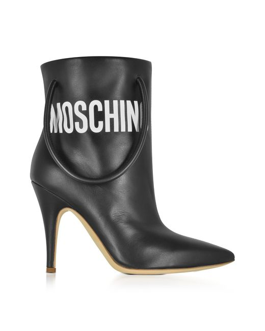 Moschino | Black Nappa Leather Boots | Lyst