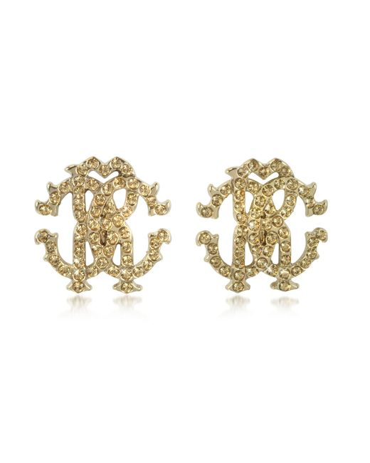 Roberto Cavalli - Metallic Rc Lux Crystals Stud Earrings - Lyst