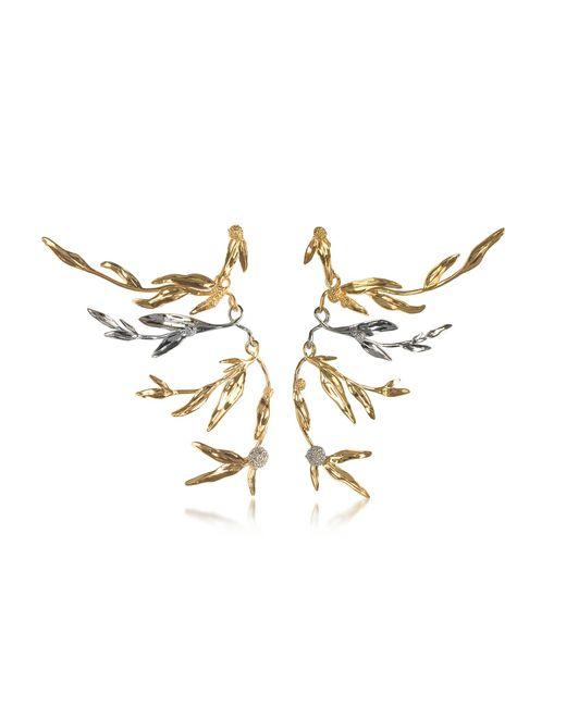 Aurelie Bidermann | Metallic 18k Gold-plated Brass Mimosa Articulated Earrings | Lyst