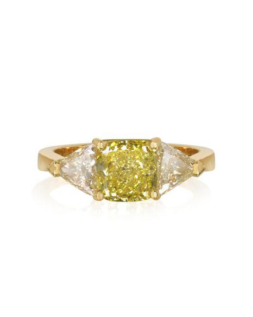 Forzieri - Yellow Diamond Gold Ring - Lyst