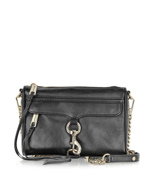 Rebecca Minkoff - Metallic Black Leather Mini Mac Crossbody Bag - Lyst