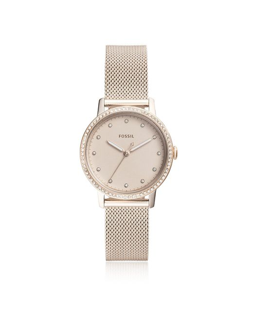 Fossil - Neely Three-hand Pastel Pink Stainless Steel Watch - Lyst