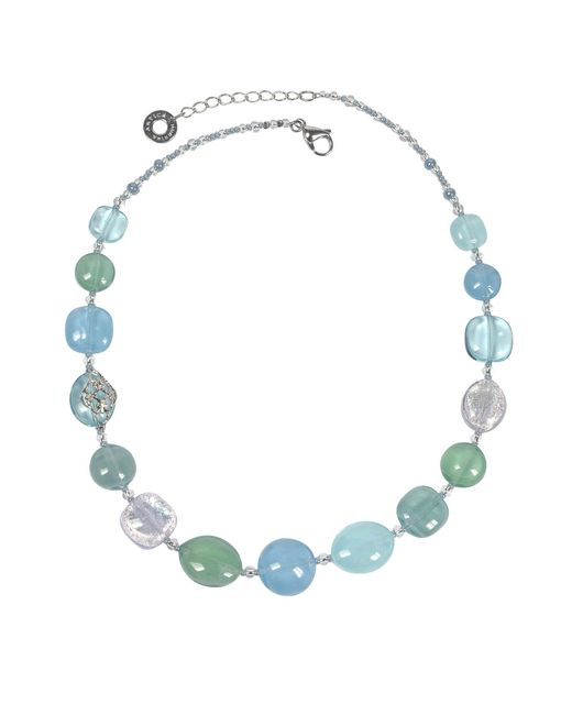 Antica Murrina | Florinda Light Blue And Green Murano Glass Beads Necklace | Lyst