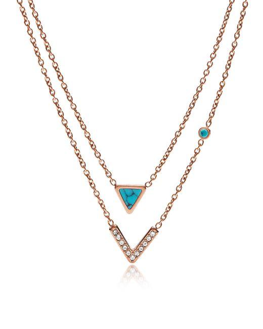 Fossil - Metallic Jf02644791 Fashion Women's Necklace - Lyst