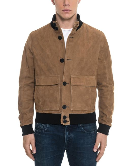 Forzieri - Brown Suede Men's Bomber Jacket for Men - Lyst