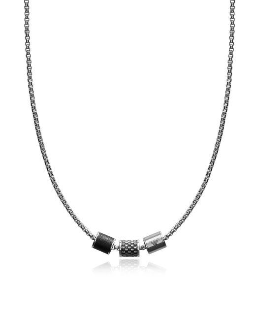 Emporio Armani - Metallic Heritage Cylinder Pendant Men's Necklace for Men - Lyst