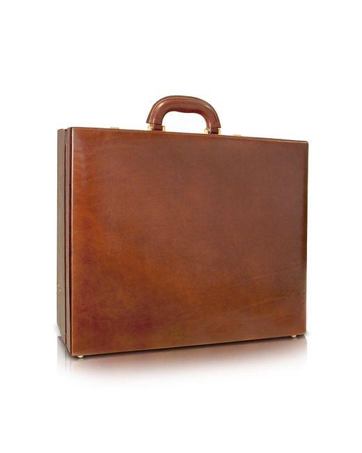 Chiarugi - Men's Handmade Brown Leather Attache Briefcase for Men - Lyst