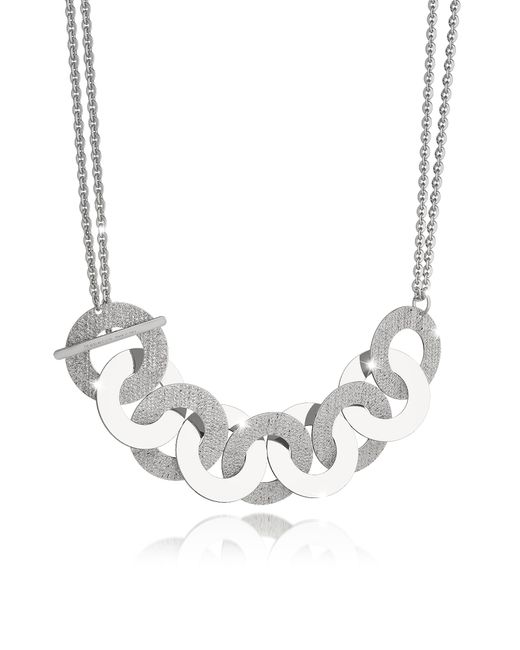 Rebecca | Metallic R-zero Rhodium Over Bronze And Steel Maxi Chain Necklace | Lyst