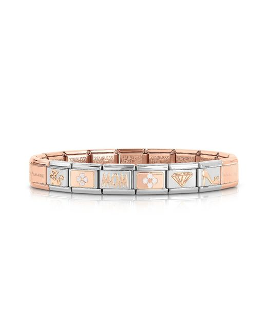 Nomination - Metallic Classic Mom Rose Gold And Stainless Steel Bracelet - Lyst