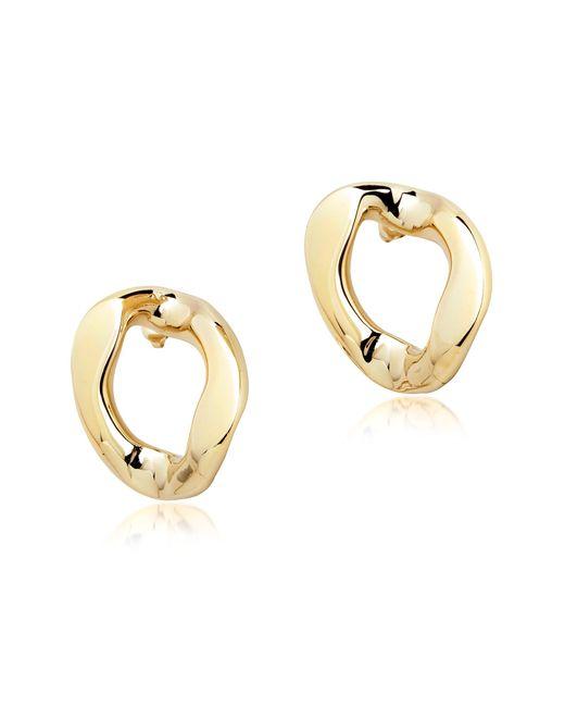 Pluma - Metallic Golden Brass Link Earrings - Lyst
