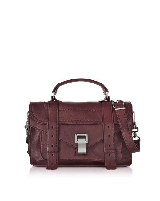 Proenza Schouler - Purple Ps1 Tiny Cordovan Lux Leather Satchel Bag - Lyst