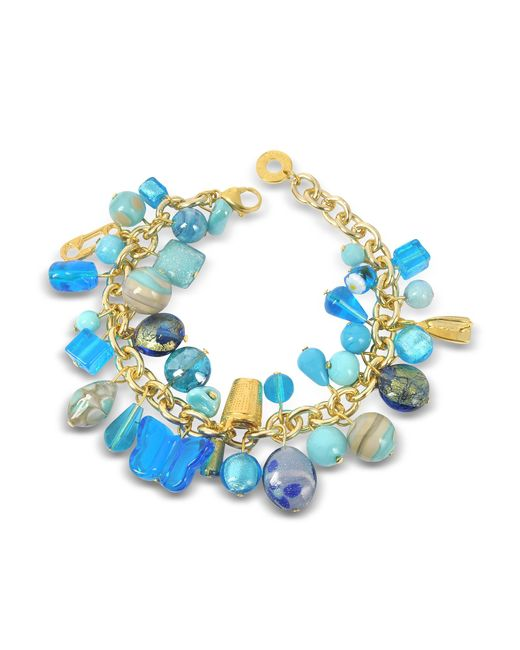 Antica Murrina - Blue Marilena Murano Glass Marine Charms Bracelet - Lyst