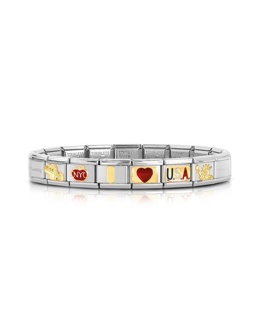 Nomination | Metallic Classic I Love Usa Golden Stainless Steel Bracelet | Lyst