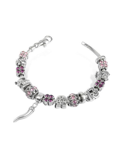 Tedora - Metallic Sterling Silver Lucky Charm Bracelet - Lyst