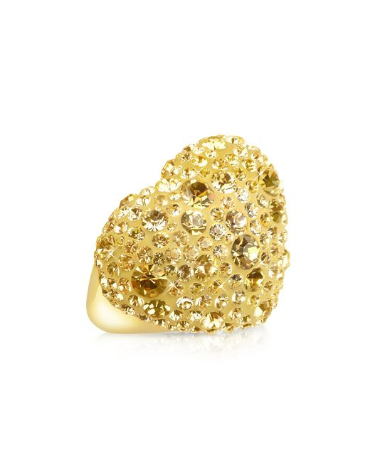 Gisèle St.moritz - Metallic Fantasmania - Gold Crystal Big Heart Ring - Lyst