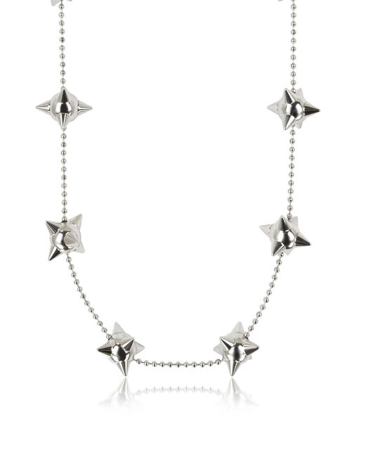 DSquared² - Metallic Pierce Me Palladium Plated Metal Spiked Chain Necklace - Lyst