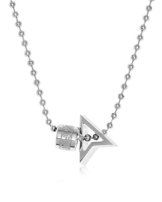 Northskull - Metallic Silver North Pendant W/ Logo Wheel & Ball Necklace for Men - Lyst