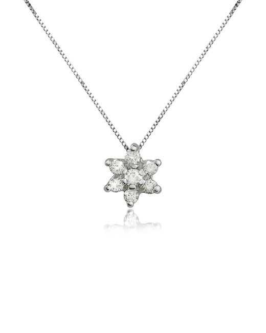 Forzieri - Metallic 0.11 Ct Diamond Flower 18k Gold Pendant Necklace - Lyst
