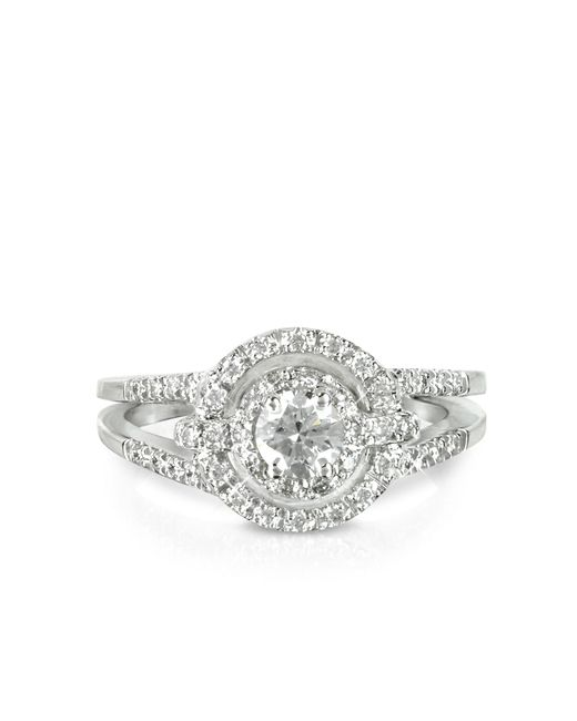 Forzieri - 058 Ctw Diamond 18k White Gold Ring - Lyst