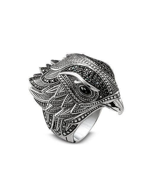 Thomas Sabo - Metallic Blackened Sterling Silver Ring w/Black Cubic Zirconia for Men - Lyst