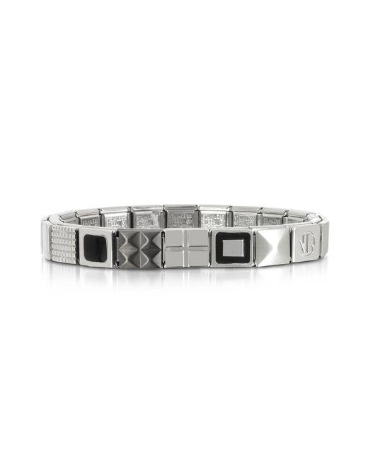 514b6cfc1067 Nomination - Metallic Steel Ikons Brazalete de Acero Inoxidable con  Tachuelas for Men - Lyst
