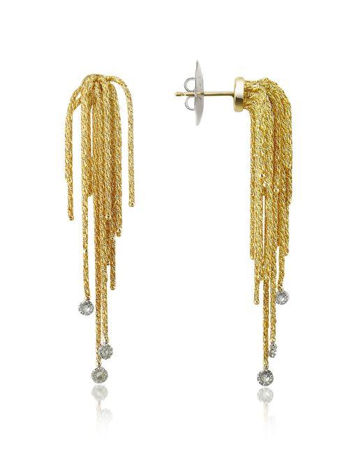 Orlando Orlandini - Metallic Flirt - Diamond Drops 18k Yellow Gold Earrings - Lyst