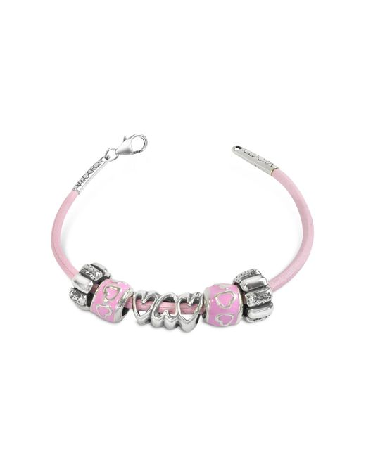 Tedora - Pink Baby Girl Sterling Charm Bracelet - Lyst