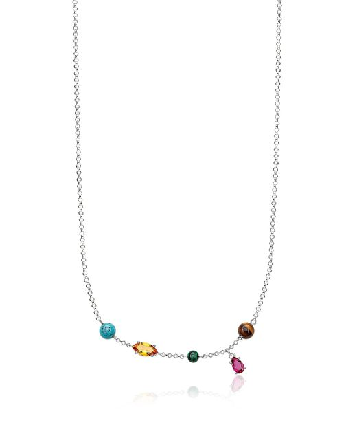 Thomas Sabo - Metallic Sterling Silver Riviera Colours Necklace W/ceramic Stones - Lyst