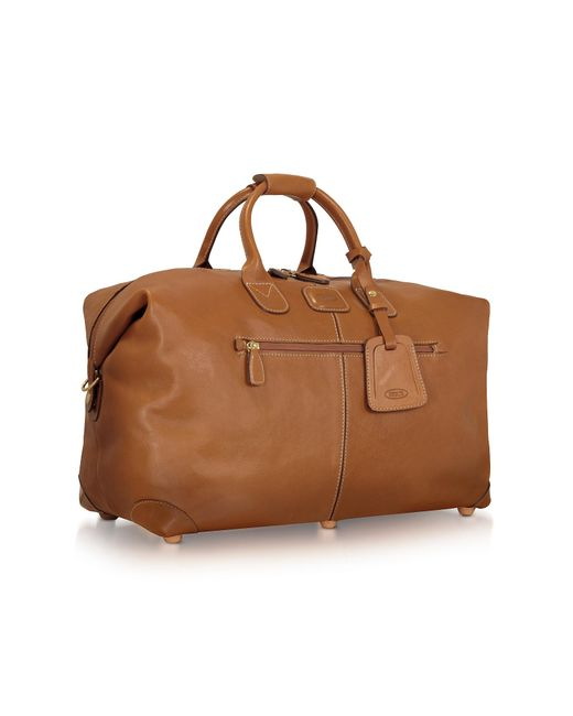 Bric's - Brown Life Pelle - Medium Leather Travel Bag for Men - Lyst