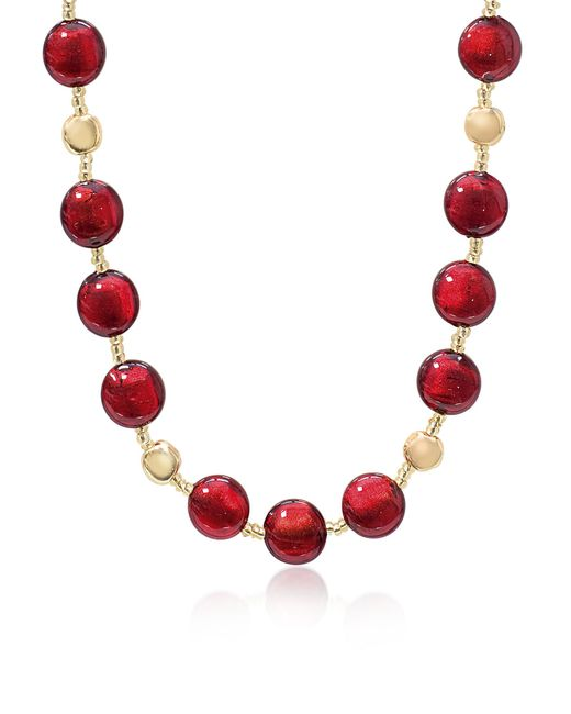 Antica Murrina - Red Frida - Murano Glass Bead Necklace - Lyst