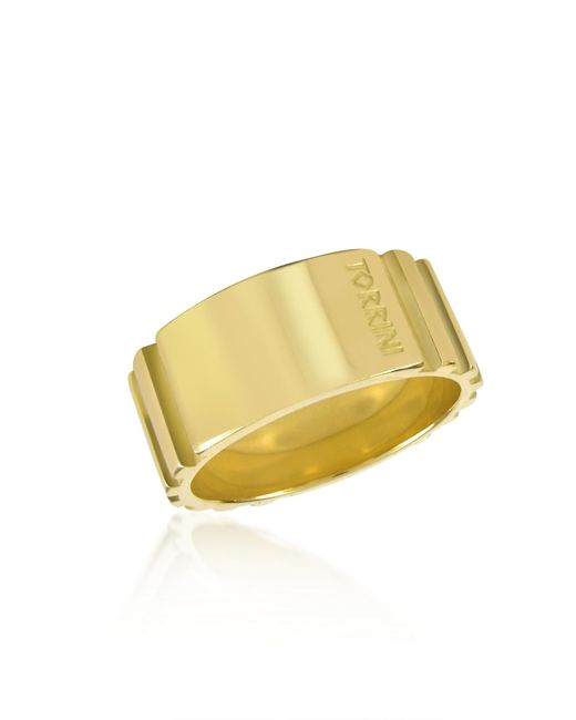 Torrini - Metallic Stripes - 18k Yellow Gold Tall Band Ring - Lyst