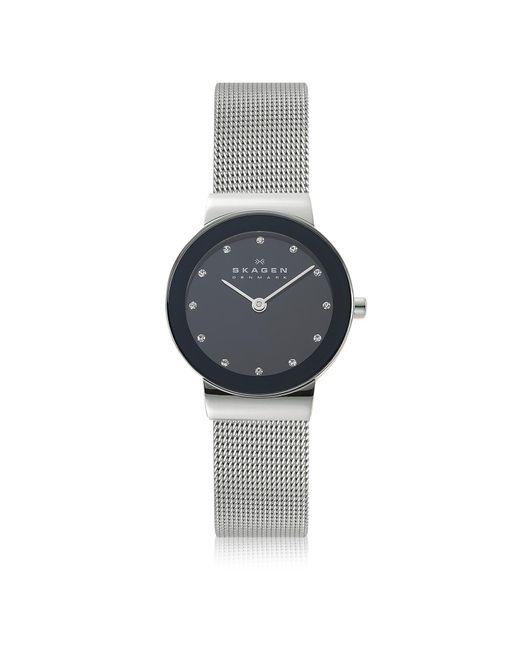 Skagen - Freja Black Stainless Steel Mesh Bracelet Women's Watch - Lyst