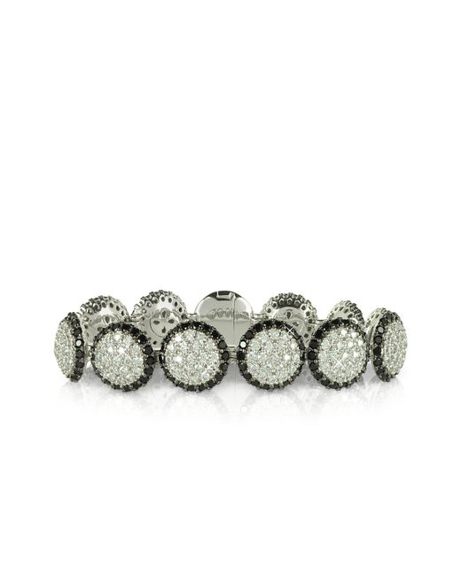 Azhar - Metallic Two Tone Cubic Zirconia & Sterling Silver Bracelet - Lyst