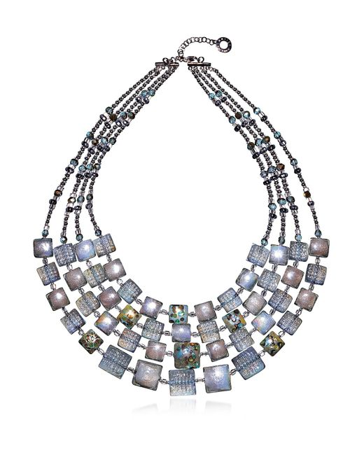 Antica Murrina - Gray Women's Grey Steel Necklace - Lyst