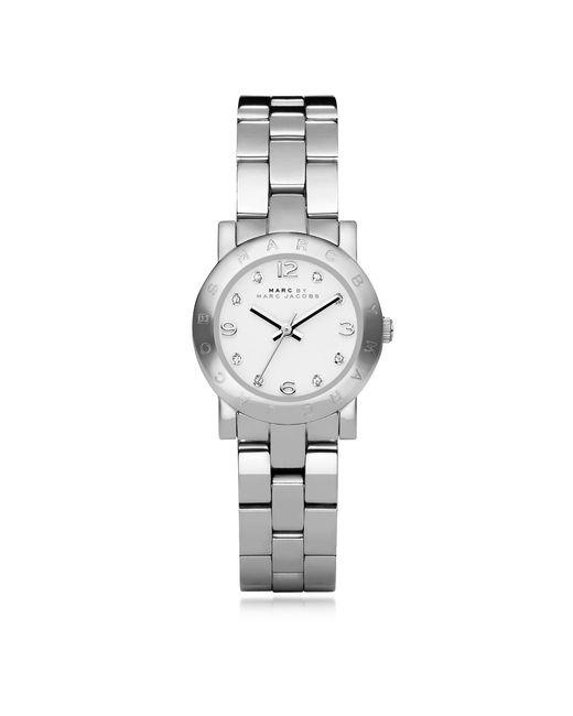 Marc By Marc Jacobs - Metallic Mini Amy 26 Mm Silver Tone Stainless Steel Women's Watch - Lyst