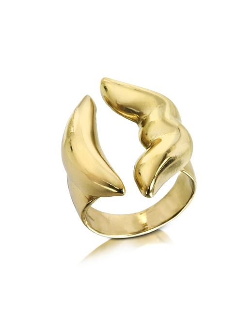 Bernard Delettrez - Metallic Mouth Bronze Ring - Lyst
