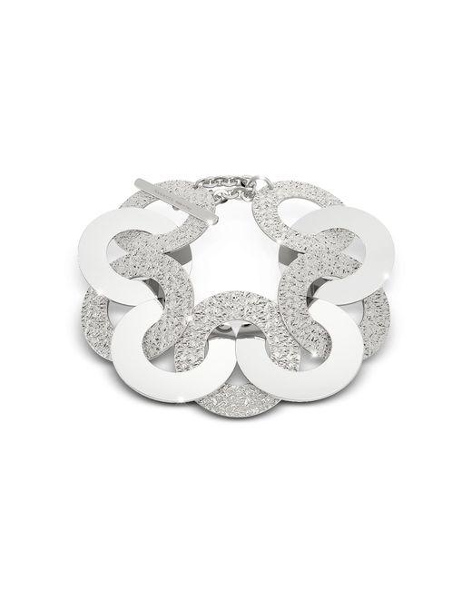 Rebecca - Metallic R-zero Rhodium Over Bronze And Steel Maxi Chain Bracelet - Lyst