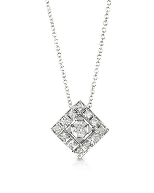 Forzieri - 0.45 Ctw Diamond 18k White Gold Pendant Necklace - Lyst