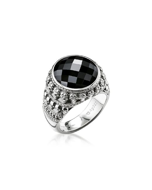 Thomas Sabo - Metallic Rebel Skulls Sterling Silver Ring w/Onyx for Men - Lyst