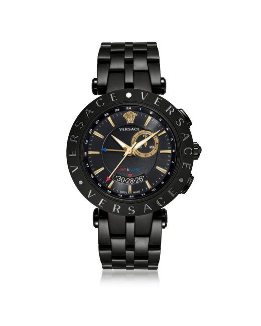 V-Race GMT Alarm Versace pour homme en coloris Black