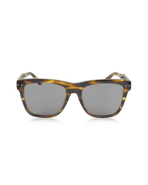 Bottega Veneta - Gray Bv0098s 002 Light Havana Acetate Frame Unisex Sunglasses - Lyst