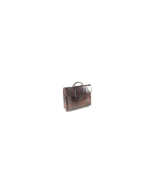 Fontanelli | Brown Croc-embossed Leather Briefcase for Men | Lyst