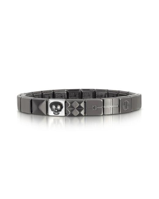 Nomination - Metallic Steel Ikons Skull Brushed Stainless Steel Bracelet for Men - Lyst