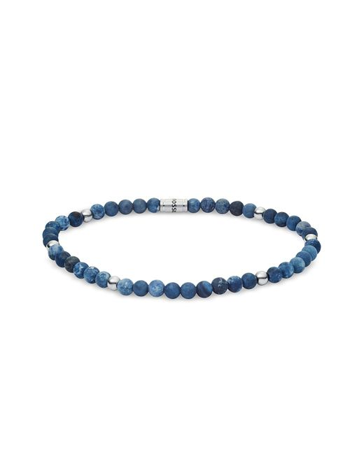 Fossil - Men's Blue Semi-Precious Bracelet for Men - Lyst