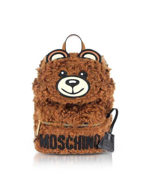 Moschino - Brown Teddy Bear Fleece Backpack - Lyst