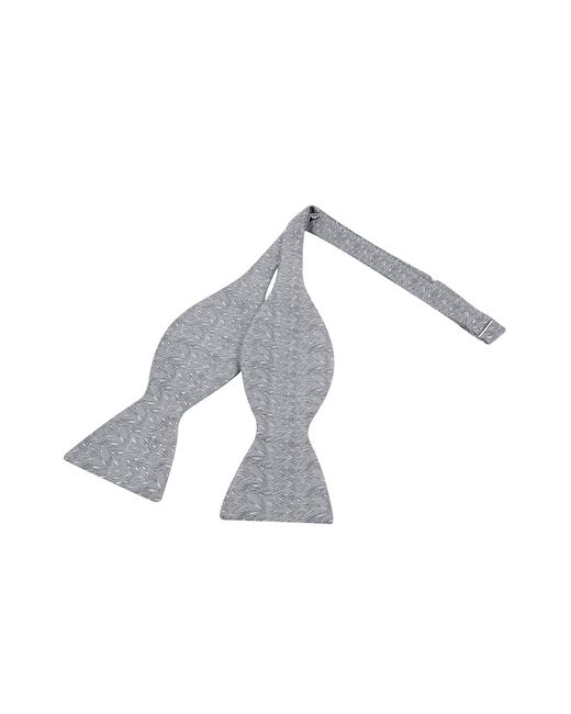 Forzieri - Ceremony Gray Zig-zag Woven Silk Self-tie Bowtie for Men - Lyst