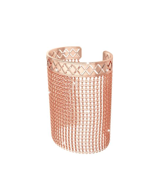 Rebecca - Pink Melrose Rose Gold Over Bronze Mesh Bracelet - Lyst