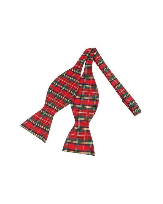 Forzieri - Red & Green Plaid Printed Silk Self-tie Bowtie for Men - Lyst