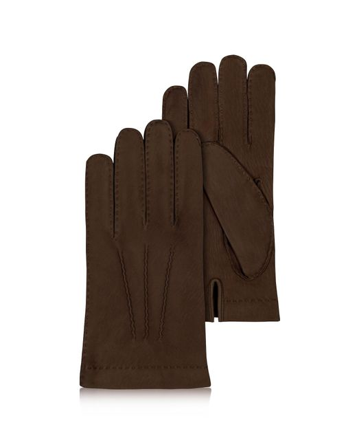 Forzieri - Brown Herren Handschuhe aus Kaschmir und italienischem Kalbsleder in dunkelbraun for Men - Lyst