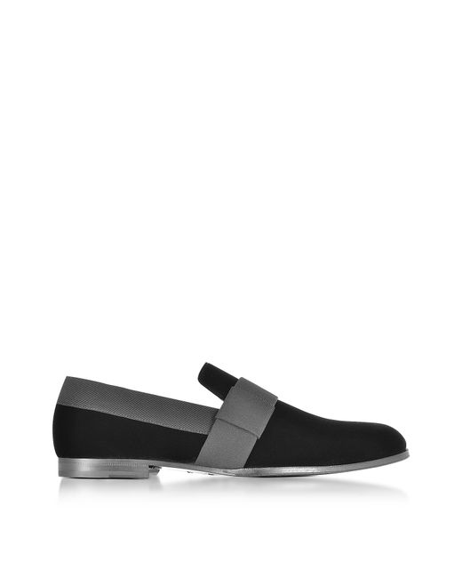 Jimmy Choo | John Black Velvet And Grossgrain Slipper Shoes for Men | Lyst